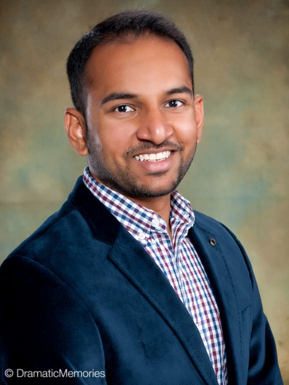 young indian man's corporate headshot