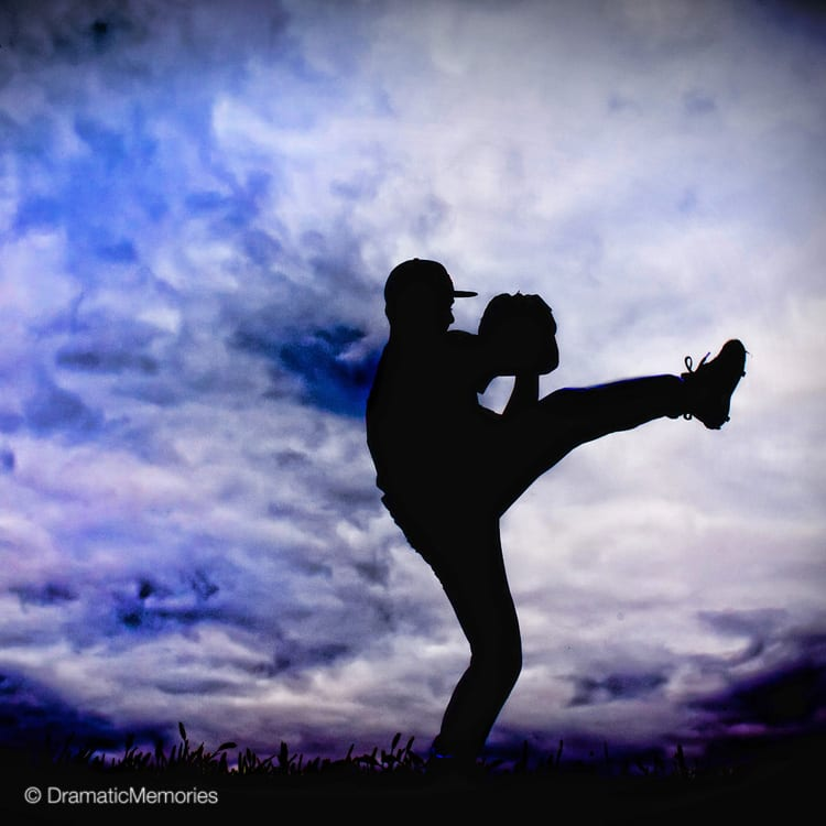 Sports Senior Pictures Baseball Pitcher Silhouette
