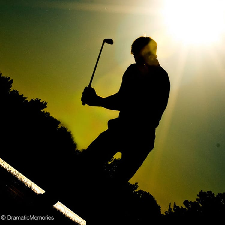 Sports Senior Pictures Golfer Silhouette