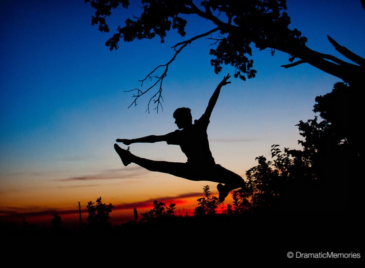 Unique Senior Pictures Dancer at Sunset