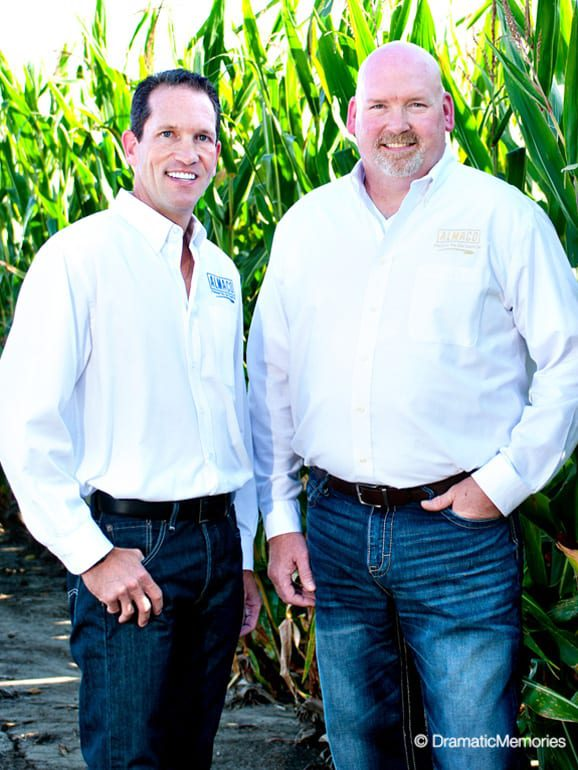 On location corporate branding photography near a corn field.