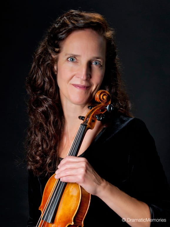 musicians professional headshots holding their violins